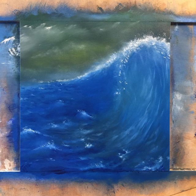 having a blast experimenting with stormy skies and ocean waves!hellip