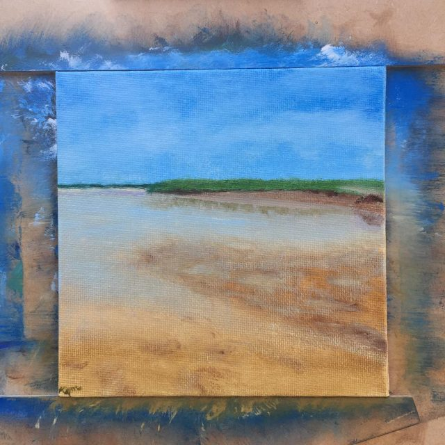 more tide pools at skaketbeach oilpainting capecod